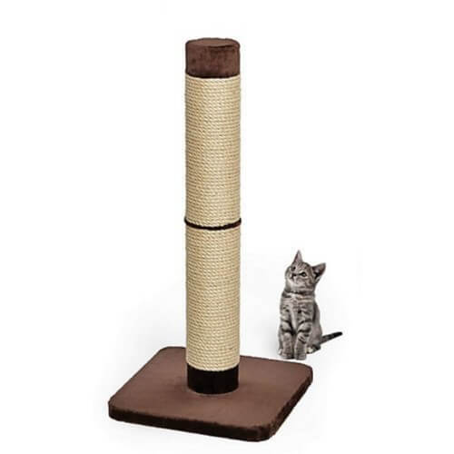 "Midwest Feline Nuvo Grand Cat Scratching Post Tan 19"" x 19"" x 41""-Cat-Midwest-PetPhenom"