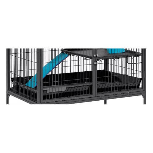 "Midwest Nation Accessory Lower Scatter Guard Black 34"" x 24"" x 4""-Small Animals-Midwest-PetPhenom"