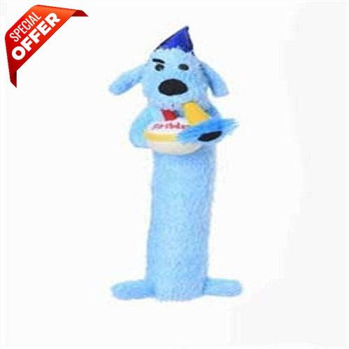 Multipet 12-Inch Happy Birthday Loofa Dog Toy, (Colors May Vary)