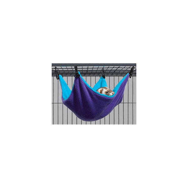 "Midwest Ferret Nation Hammock Hideaway Small Teal / Purple 14"" x 12"" x 6.5""-Small Animals-Midwest-PetPhenom"