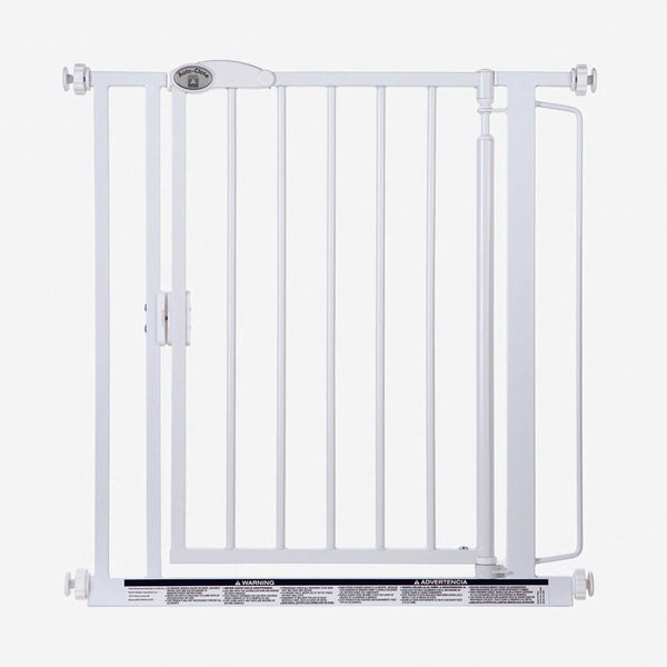 "North States Auto-Close Wall Mounted Pet Gate White 29.5"" - 39.00"" x 30""-Dog-North States-PetPhenom"