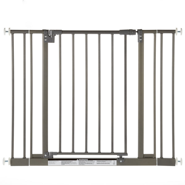 "North States Easy-Close Wall Mounted Steel Pet Gate Gray 28"" - 38.5"" x 29""-Dog-North States-PetPhenom"