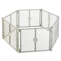 "North States Pet Superyard XT Gate 6 panels White 30"" x 26""-Dog-North States-PetPhenom"
