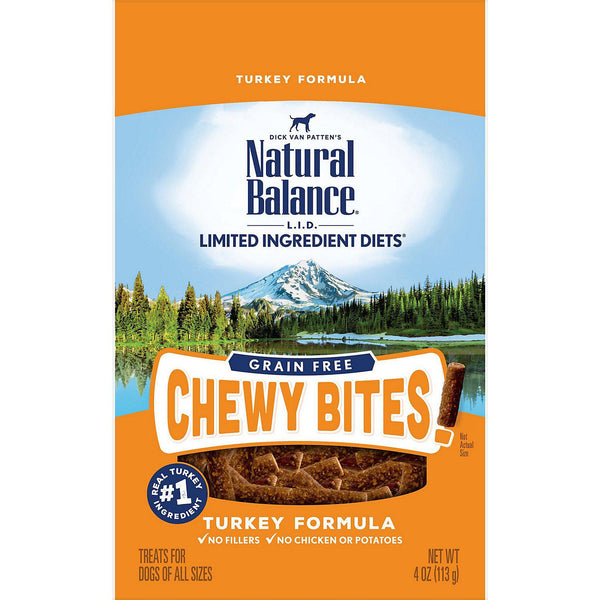 Natural Balance Liminited Ingredients Diet Grain Free Chewy Bites! Turkey 4oz-Dog-Natural Balance-PetPhenom