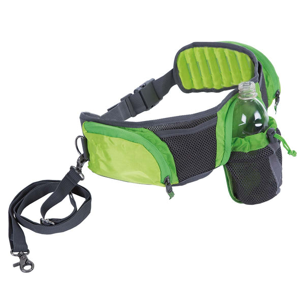 "Outward Hound Hands Free Hipster Dog Walking Pack Green / Gray 4"" x 7"" x 2"""