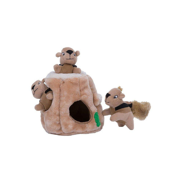 "Outward Hound Hide-A-Squirrel Dog Toy Large Brown 7"" x 7"" x 8""-Dog-Outward Hound-PetPhenom"