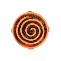 "Outward Hound Fun Feeder Slo-Bowl Swirl Large Orange 12.75"" x 11"" x 2.6""-Dog-Outward Hound-PetPhenom"