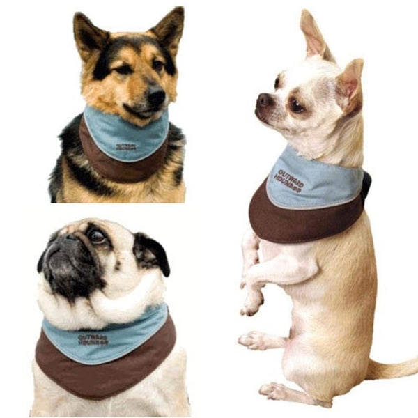 Outward Hound Kyjen Designer Cool-It Bandana, Blue, Medium
