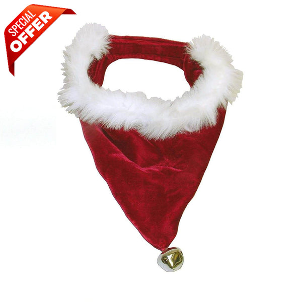 Outward Hound Santa Dog Bandana, Red-Dog-Outward Hound-PetPhenom