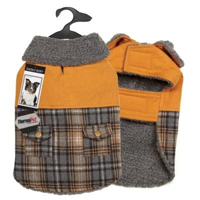 Zack & Zoey® Zack & Zoey® ThermaPet Plaid Duck Coat -Small/Medium-Dog-Zack & Zoey-PetPhenom