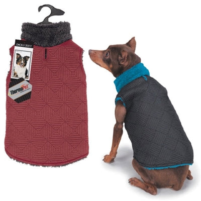 Zack & Zoey® Zack & Zoey® ThermaPet Quilted Vest - Small/Medium - Blue/Black-Dog-Zack & Zoey-PetPhenom