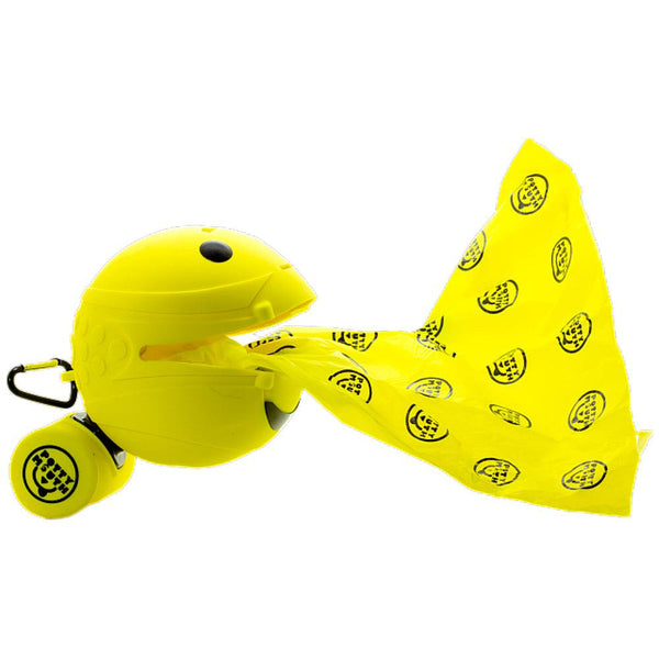 "Potty Mouth Portable Hygienic Pooper Scooper Large Yellow 4.3"" x 4.3"" x 4.3""-Dog-Potty Mouth-PetPhenom"