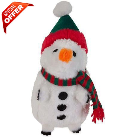 Petmate Holiday Heggies Dog Toy Zoobilee Snowman-Dog-Petmate-PetPhenom