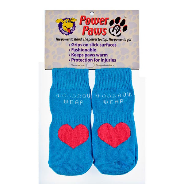 "Woodrow Wear Power Paws Advanced Extra Large Blue / Red Heart 2.75"" - 3.125"" x 2.75"" - 3.125""-Dog-Woodrow Wear-PetPhenom"