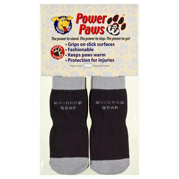 "Woodrow Wear Power Paws Advanced Large Black / Grey 2.38"" - 2.75"" x 2.38"" - 2.75""-Dog-Woodrow Wear-PetPhenom"