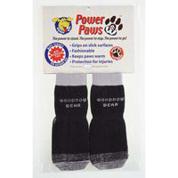 "Woodrow Wear Power Paws Reinforced Foot Large Black/Gray 2.38"" - 2.75"" x 2.38"" - 2.75""-Dog-Woodrow Wear-PetPhenom"