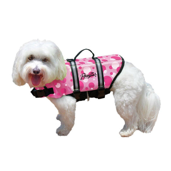 Pawz Pet Products Nylon Dog Life Jacket Small Pink Bubbles