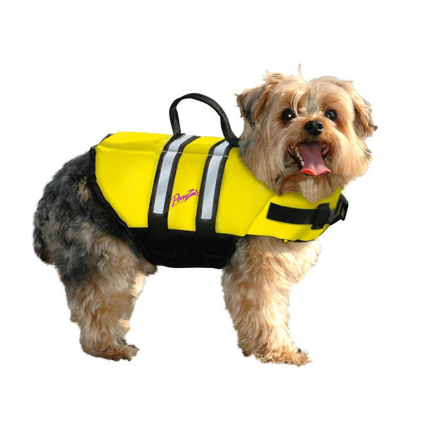 Pawz Pet Products Nylon Dog Life Jacket Small Yellow-Dog-Pawz Pet Products-PetPhenom