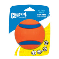 "Petmate Chuckit Ultra Ball Dog Toy 1 pack Extra Large Orange/Blue 3.46"" x 4.72"" x 5.9""-Dog-Petmate-PetPhenom"