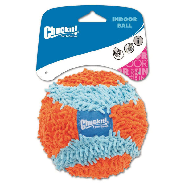"Petmate Chuckit Indoor Ball Dog Toy Medium Orange/Blue 4.6"" x 5"" x 8.25""-Dog-Petmate-PetPhenom"