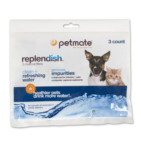 "Petmate Replendish Replacement Filters 3 pack with 1 filter strap 8.3"" x 0.6"" x 6.1""-Dog-Petmate-PetPhenom"