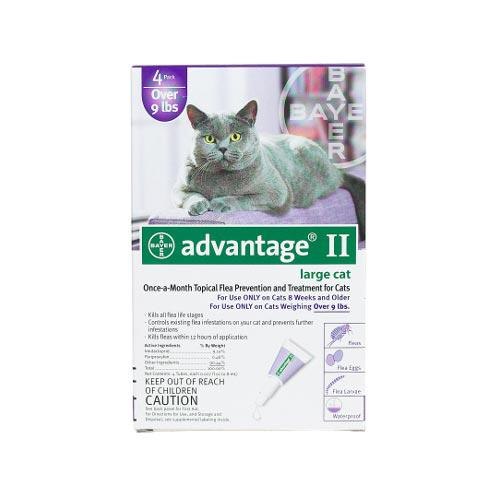 Advantage Flea Control for Cats and Kittens Over 9 lbs 4 Month Supply-Cat-Advantage-PetPhenom