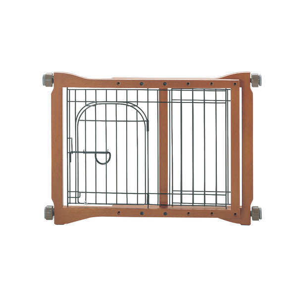 "Richell The Pet Sitter Pressure Mounted Gate Autumn Matte 28.3"" - 41.3"" x 2"" x 20.9""-Dog-Richell-PetPhenom"