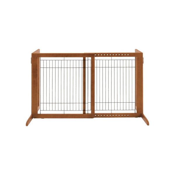 "Richell Freestanding Pet Gate HS Autumn Matte 28.3"" - 47.2"" x 23.6"" x 27.6""-Dog-Richell-PetPhenom"