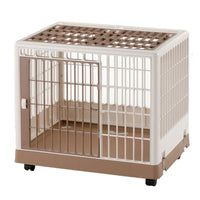 "Richell Pet Training Kennel PK-650 White / Mocha 25.4"" x 19.7"" x 22""-Dog-Richell-PetPhenom"