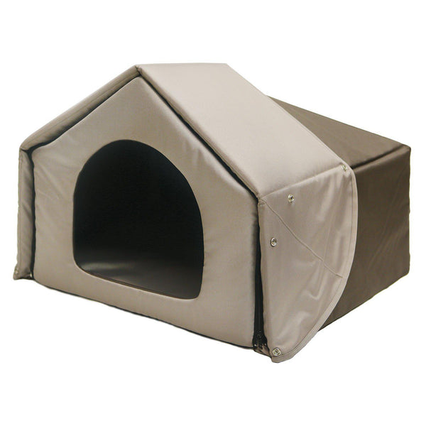 "Richell Convertible Pet Bed House Brown 26.2"" x 19.7"" x 18.1""-Dog-Richell-PetPhenom"