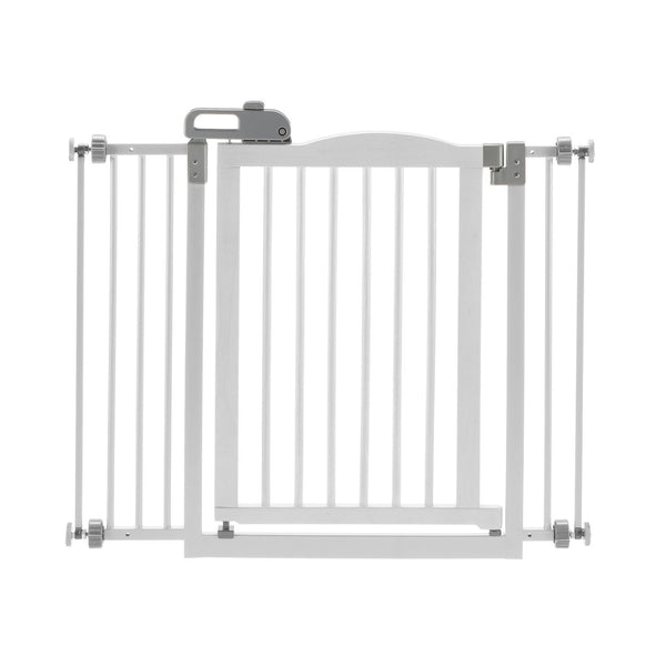 "Richell One-Touch Pressure Pet Gate II White 32.1"" - 36.4"" x 2"" x 30.5""-Dog-Richell-PetPhenom"