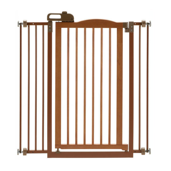 "Richell Tall One-Touch Pressure Mounted Pet Gate II Autumn Matte 32.1"" - 36.4"" x 2"" x 38.4""-Dog-Richell-PetPhenom"