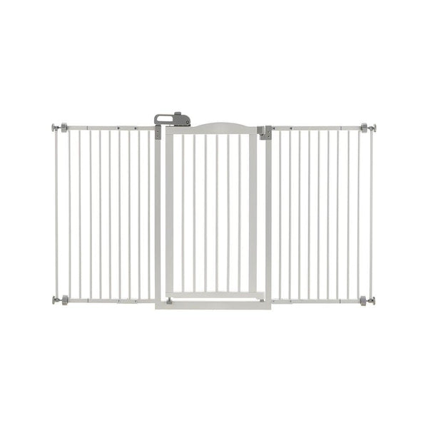 "Richell Tall and Wide One-Touch Pressure Mounted Pet Gate White 32.1"" - 62.8"" x 2"" x 38.4""-Dog-Richell-PetPhenom"