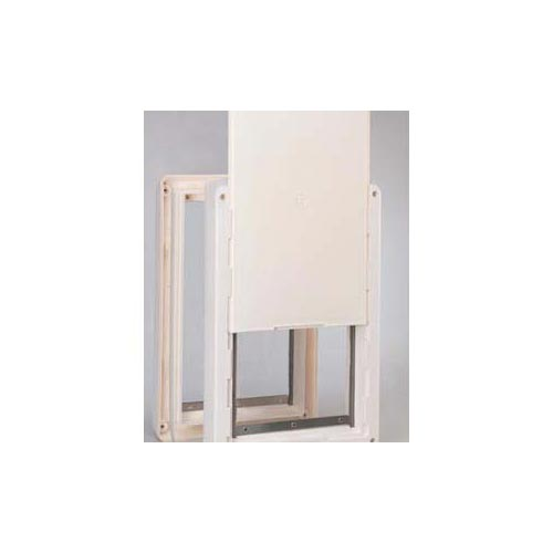 "Ideal Pet Products Ruff-Weather Pet Door Small White 5.56"" x 9.06"" x 13.37""-Dog-Ideal Pet Products-PetPhenom"