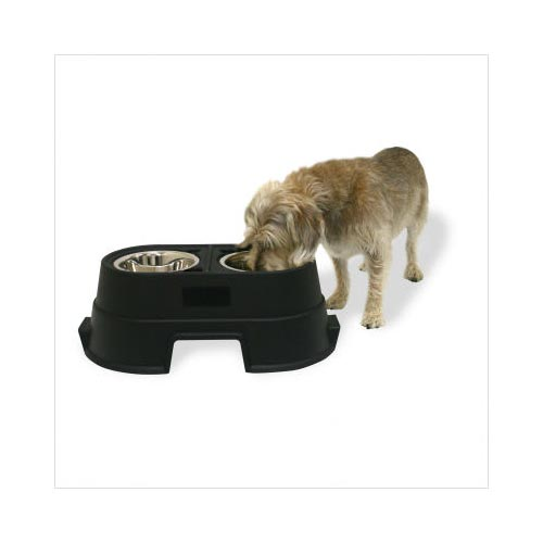 "Our Pets Healthy Pet Diner Elevated Dog Feeder Medium Black 23.5"" x 13"" x 8""-Dog-Our Pets-PetPhenom"