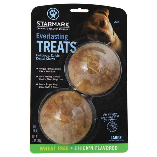 "Starmark Everlasting Treat Veggie Chicken 2 pack Large Brown 3.5"" x 3.5"" x 1.5""-Dog-Starmark-PetPhenom"