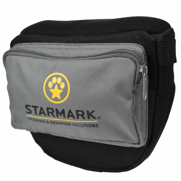 "Starmark Dog Pro Training Treat Pouch Black/Gray 6.75"" x 10.5"" x 3.5""-Dog-Starmark-PetPhenom"