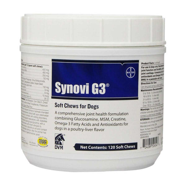 Bayer Synovi G3 Soft Chews for Superior Joint Health in Dogs 120 count-Dog-Bayer-PetPhenom