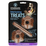 Starmark Interlocking Treats Liver Medium Brown-Dog-Starmark-PetPhenom
