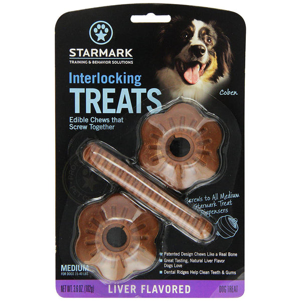 Starmark Interlocking Treats Liver Medium Brown