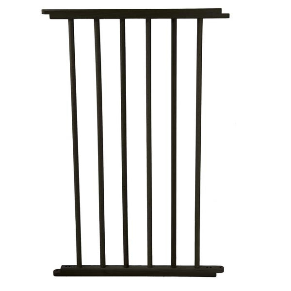 "Cardinal Gates VersaGate Hardware Mounted Pet Gate Extension Black 20"" x 30.5""-Dog-Cardinal Gates-PetPhenom"