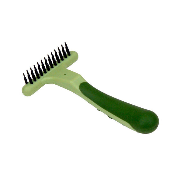 "Coastal Pet Products Safari Dog Undercoat Rake Green 6.5"" x 3.75"" x 1.3""-Dog-Coastal Pet Products-PetPhenom"