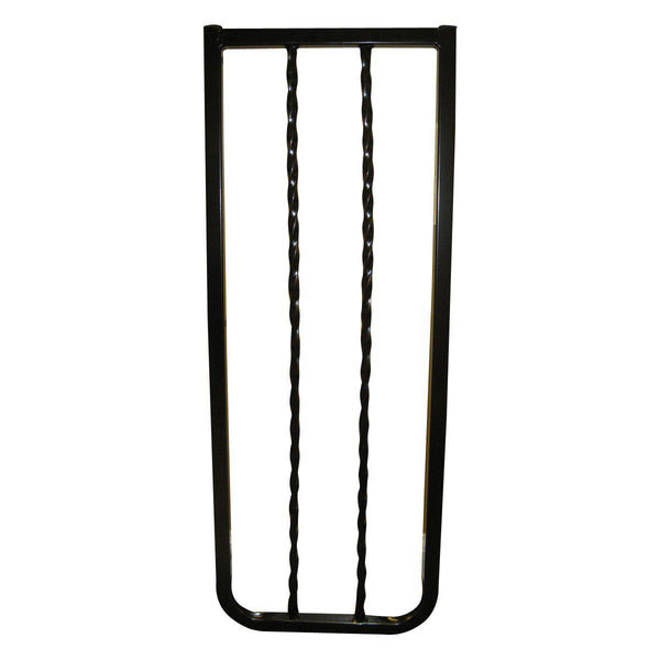"Cardinal Gates Wrought Iron Decor Hardware Mounted Pet Gate Black 27"" - 42.5"" x 1.5"" x 29.5"""