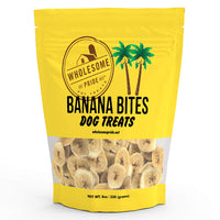 "Wholesome Pride Banana Bites Dog Treats 8 ounces 3"" x 7"" x 8.5""-Dog-Wholesome Pride-PetPhenom"