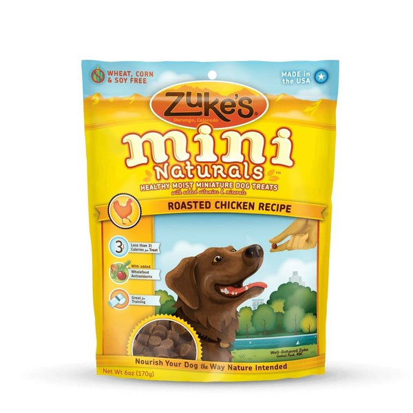 Zuke's Mini Naturals Moist Miniature Treat for Dogs Roasted Chicken 6oz.