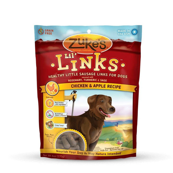 Zuke's Lil' Links Healthy Grain Free Little Sausage Links for Dogs Chicken and Apple-Dog-Zuke's-PetPhenom