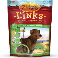 Zuke's Lil' Links Healthy Grain Free Little Sausage Links for Dogs Duck and Apple-Dog-Zuke's-PetPhenom