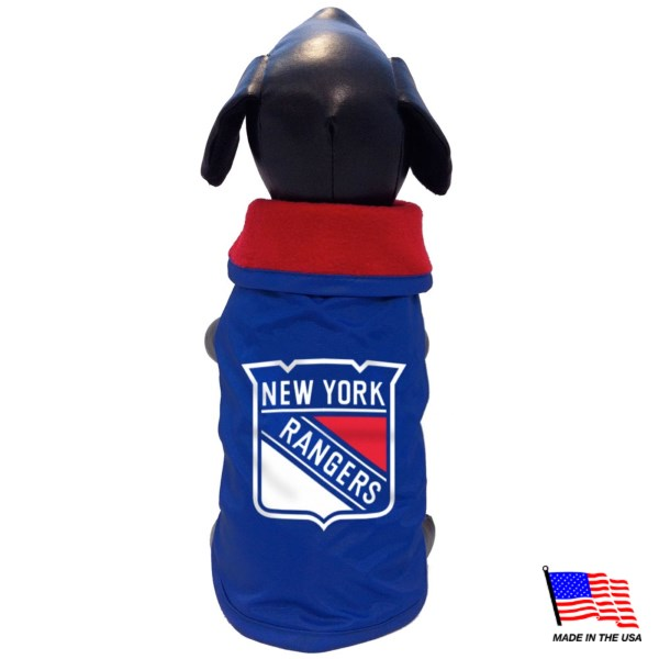All Star Dogs New York Rangers Weather-Resistant Blanket Pet Coat - X-Large-Sports Fans-All Star Dogs-PetPhenom