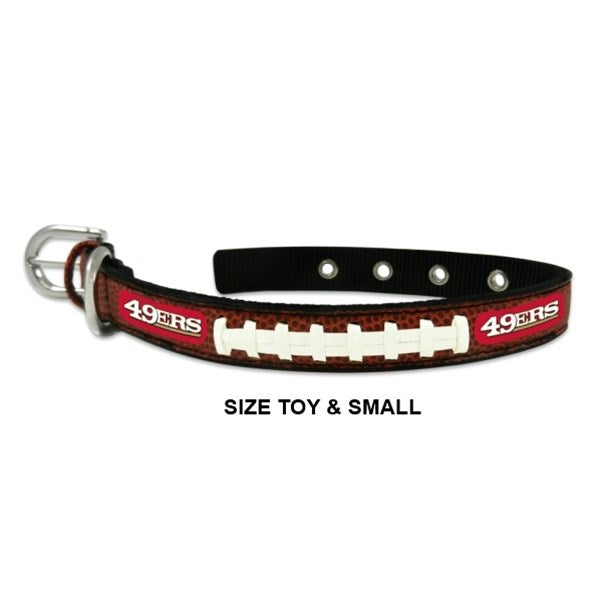 GameWear San Francisco 49ers Classic Leather Football Collar - Large-Sports Fans-GameWear-PetPhenom