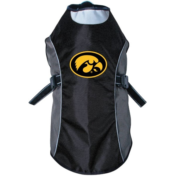 Hunter Iowa Hawkeyes Water Resistant Reflective Pet Jacket - X-Large-Sports Fans-Hunter-PetPhenom